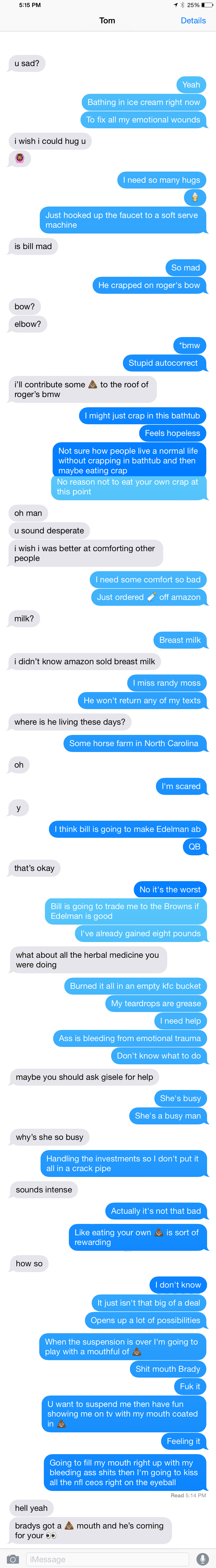 text messages from tom brady