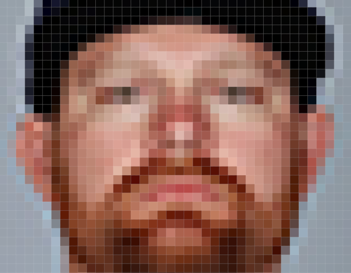 Very square face baseball player